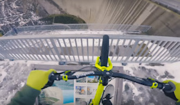 Don't Look Down: Riding on the Edge of a Massive Dam - Video