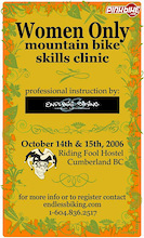 Women Only Skills Clinic October 14th & 15th-Cumberland B.C.
