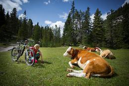 Mountain Biking in the Pragser Dolomites