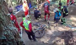 Greg Minnaar's Broken Santa Cruz V10 - Val di Sole DH World Cup 2017