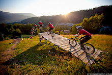 NS Hardtails Team at Bikepark Palenica
