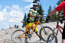 Brian Lopes takes a few laps at Mammoth Bike Park