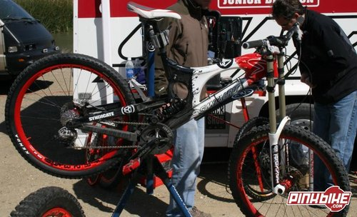 Steve and Nathan were on these two new Prototype V10 bikes